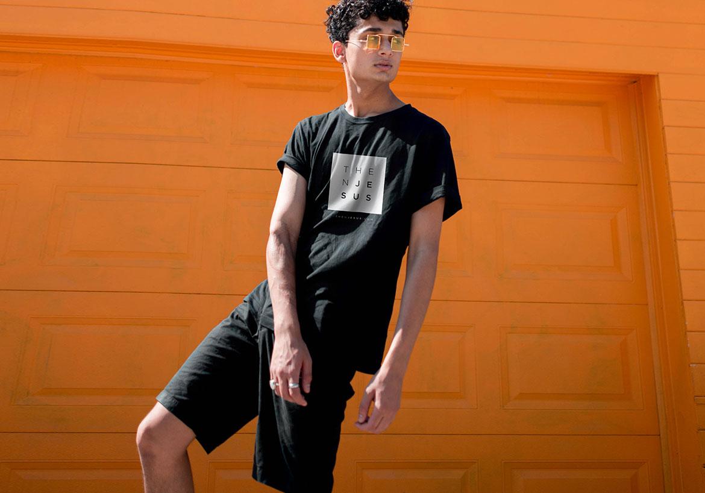 Kid wearing a thenJesus t-shirt
